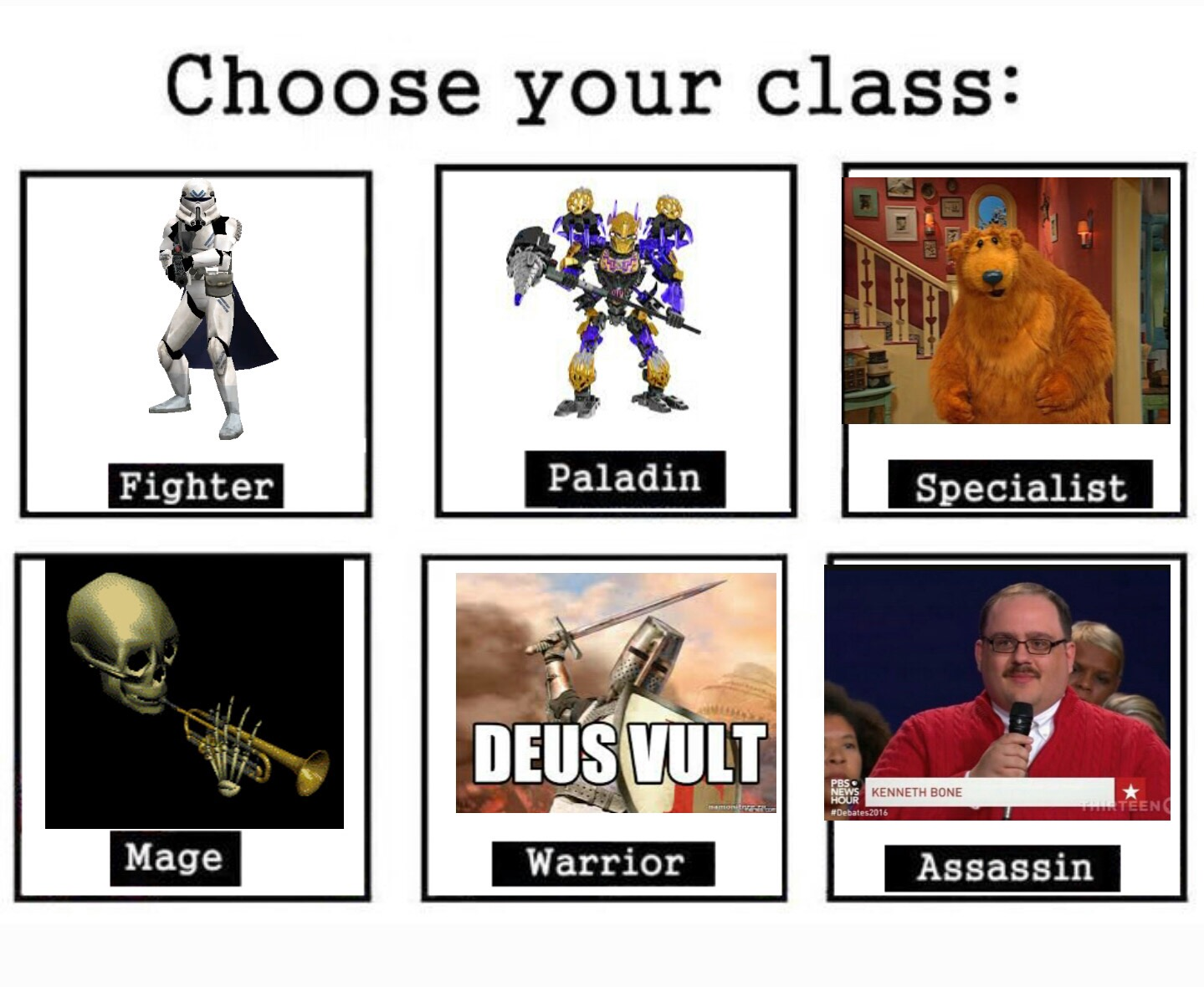 Meme Of The Month October 2016 Choose Your Class Know
