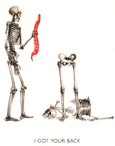 I Got Your Back Skeletons Know Your Meme