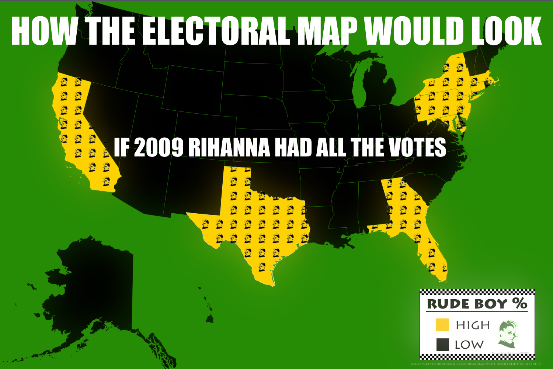 ec2 2009 rihanna electoral map parody electoral college map parodies,Electoral College Memes