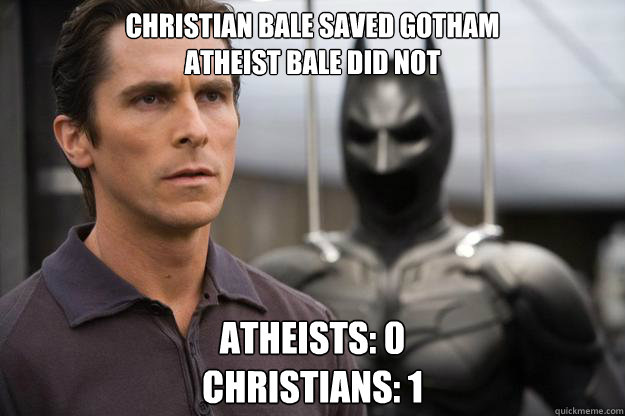 Atheist dating a christian meme