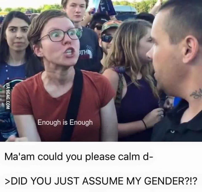 8e3 did you just assume my gender? know your meme