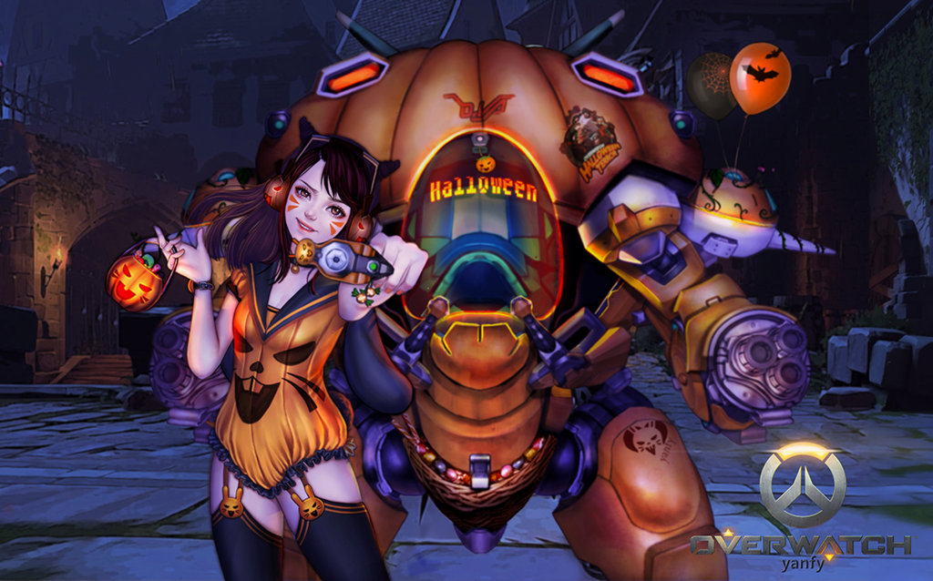 D.Va Halloween skin by Yanfy | Overwatch | Know Your Meme