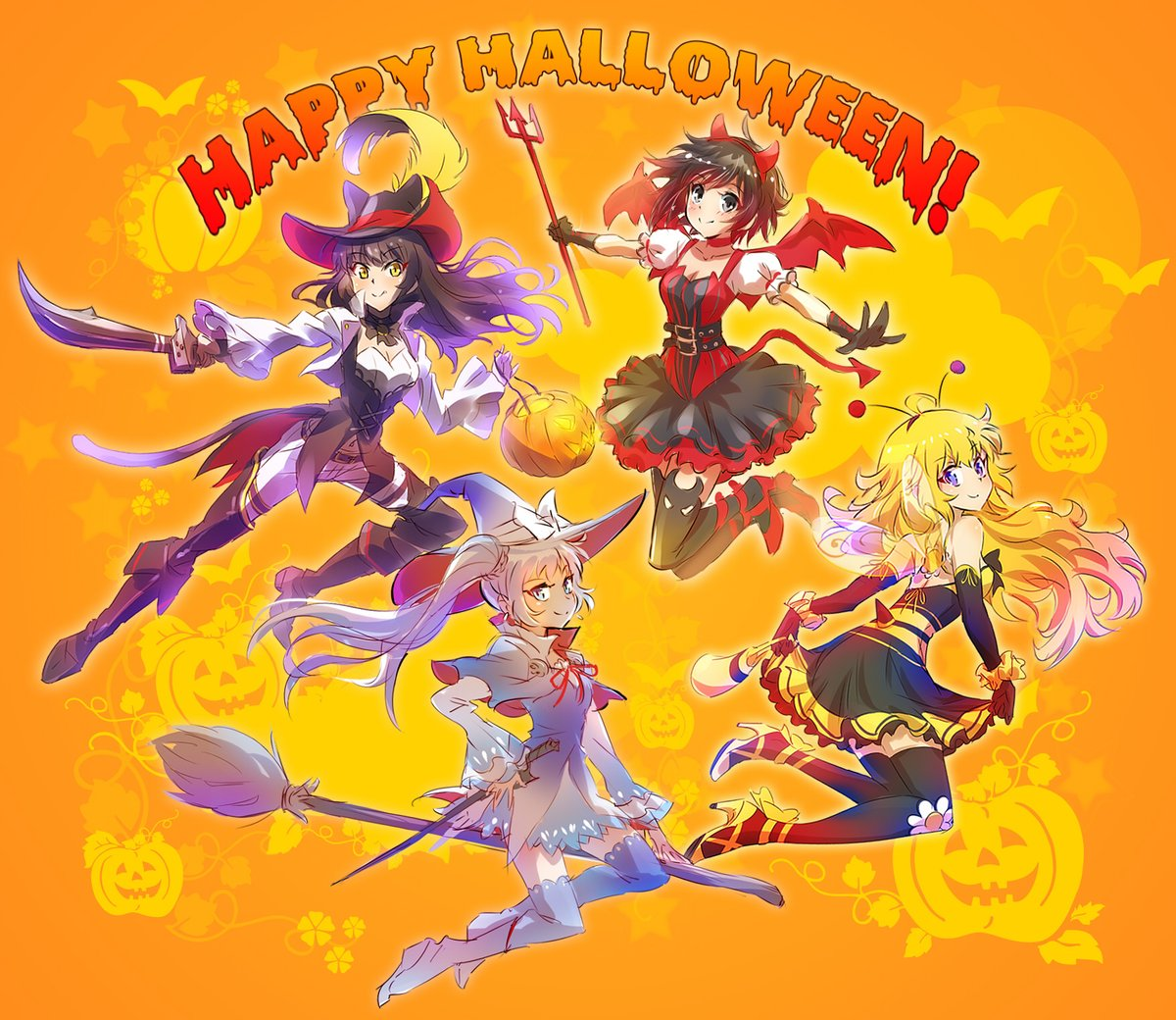 ALOWEE 0) Yellow Cartoon Anime