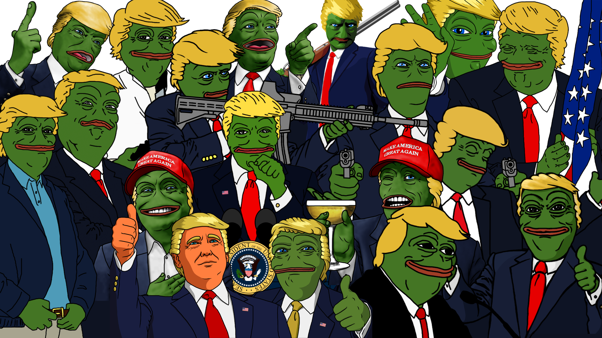 ebd the many faces of trump pepe pepe the frog know your meme