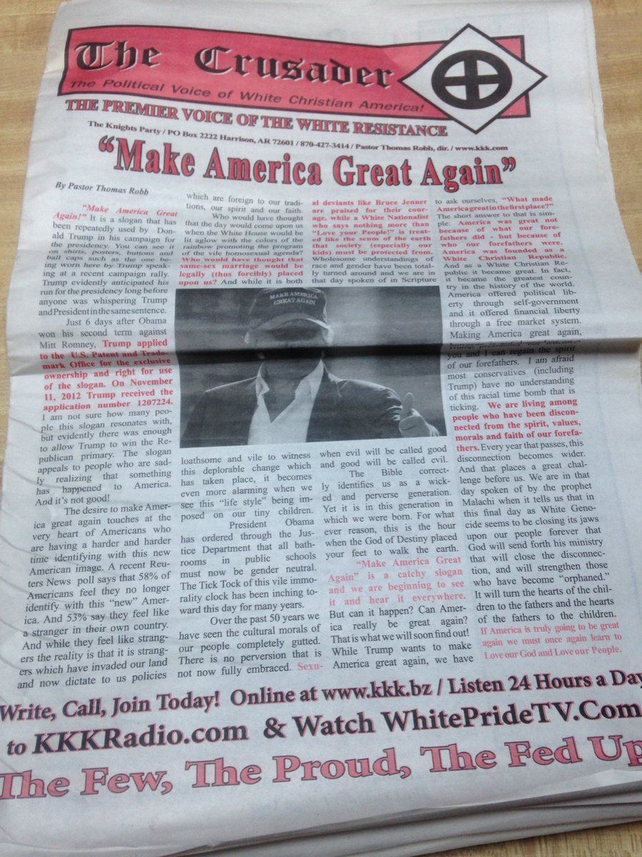 kkk s official newspaper supports donald trump for president kkk s official newspaper supports donald trump for president
