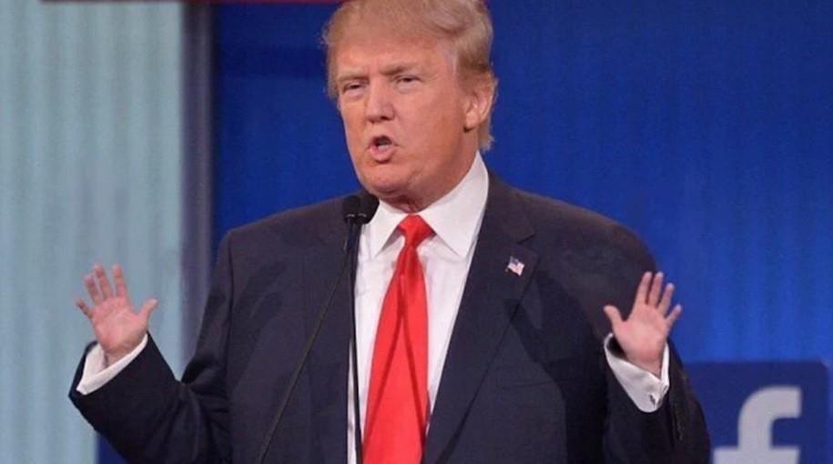 trump america first speech hand gesture