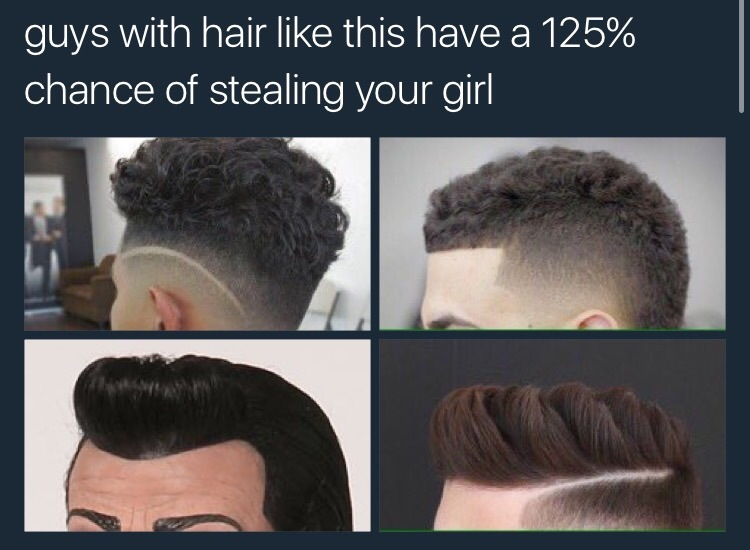Robbie Guys With Hair Like This Have A Chance Of Stealing - Hairstyle steal your girl