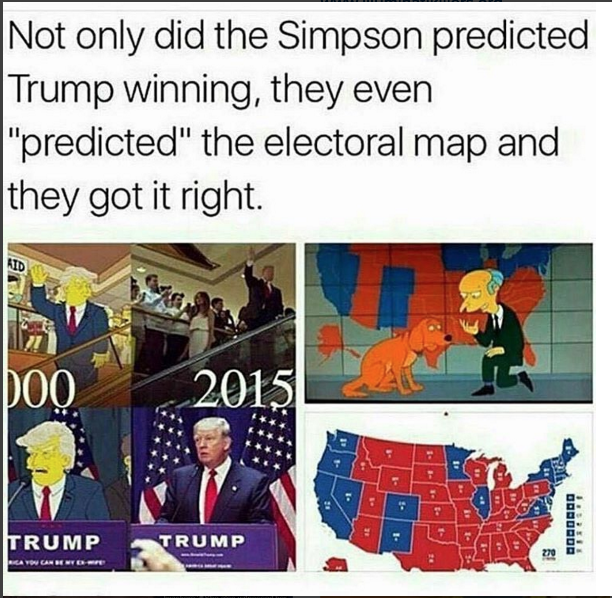 Simpsons Predicted The Future Yet Again United States - Simpons us map vs real voters map