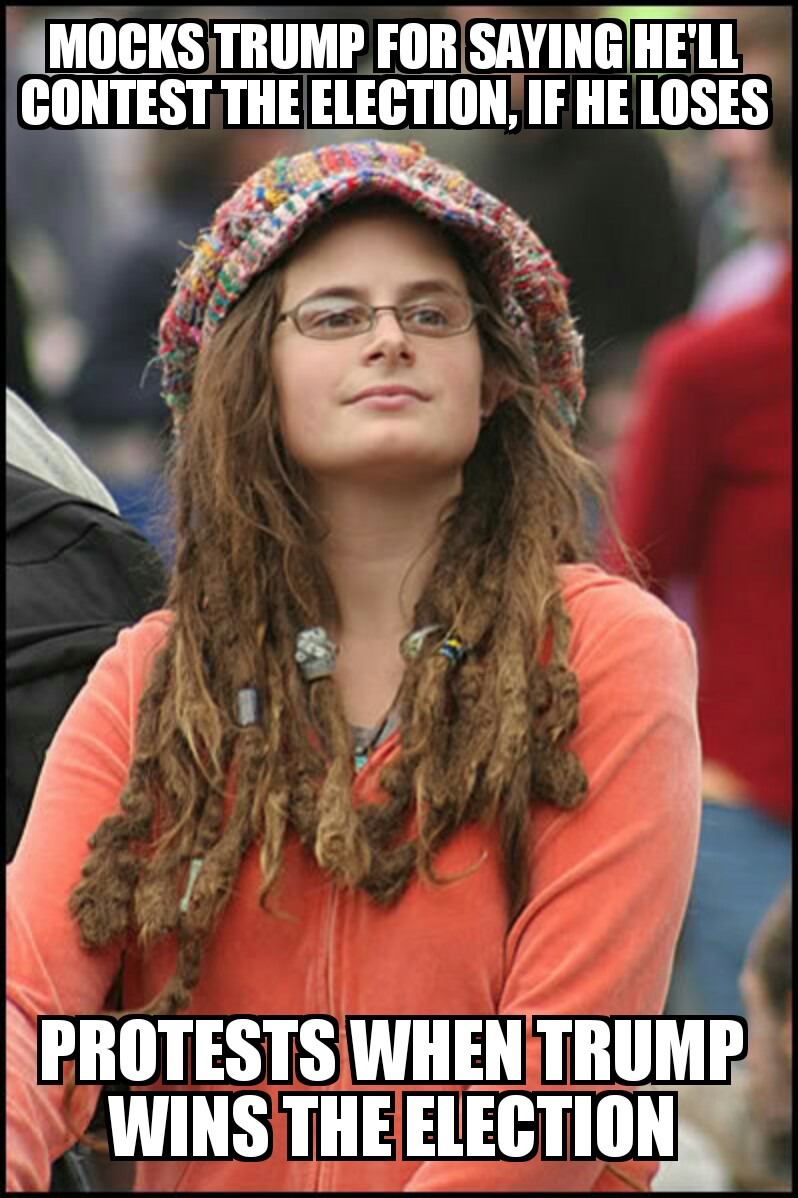 14b mocks trump protests after he wins college liberal know your
