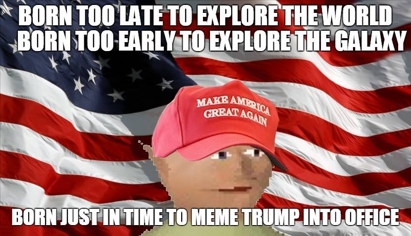 873 memeing into office donald trump know your meme