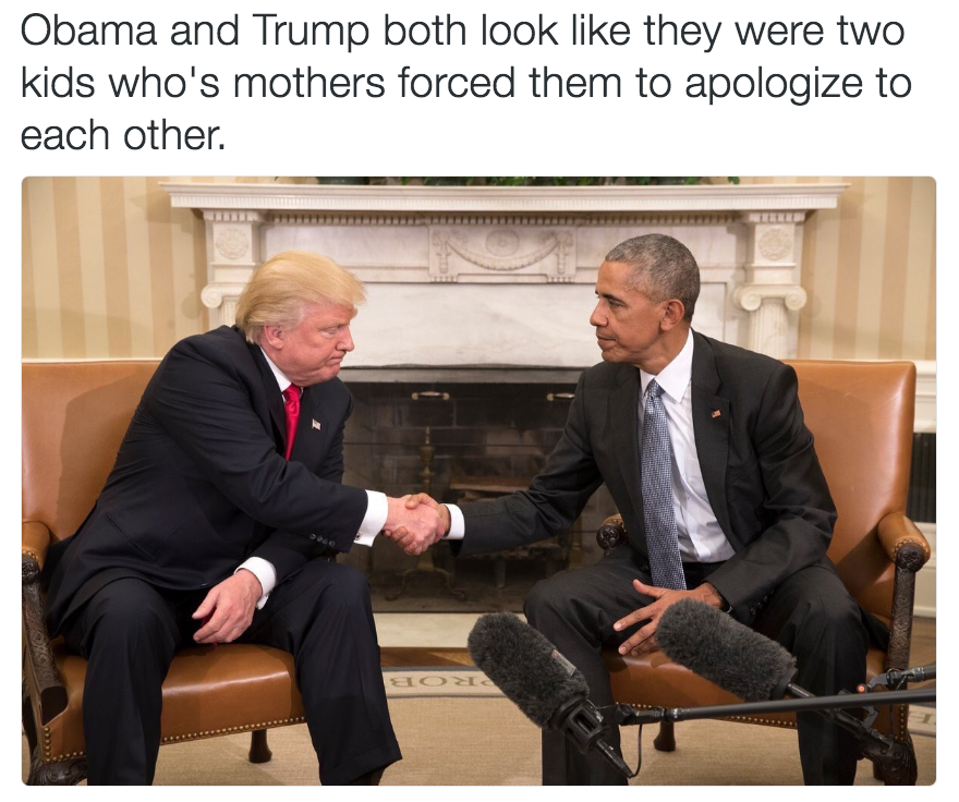 919 obama and trump shaking hands image gallery know your meme