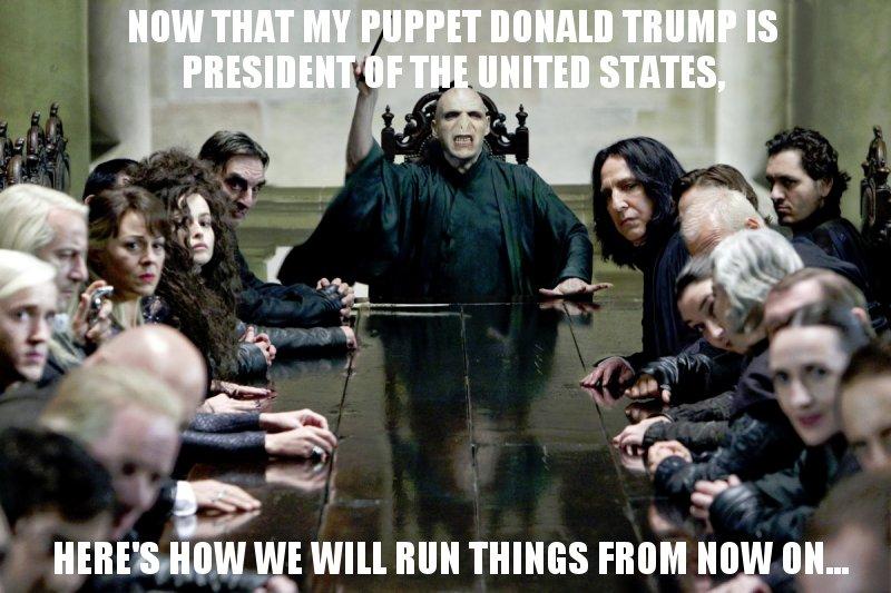 The Secret Cabinet Of Donald Trump | Harry Potter | Know Your Meme