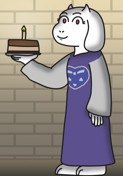 Since today is my birthday here is a Toriel with a birthday cake