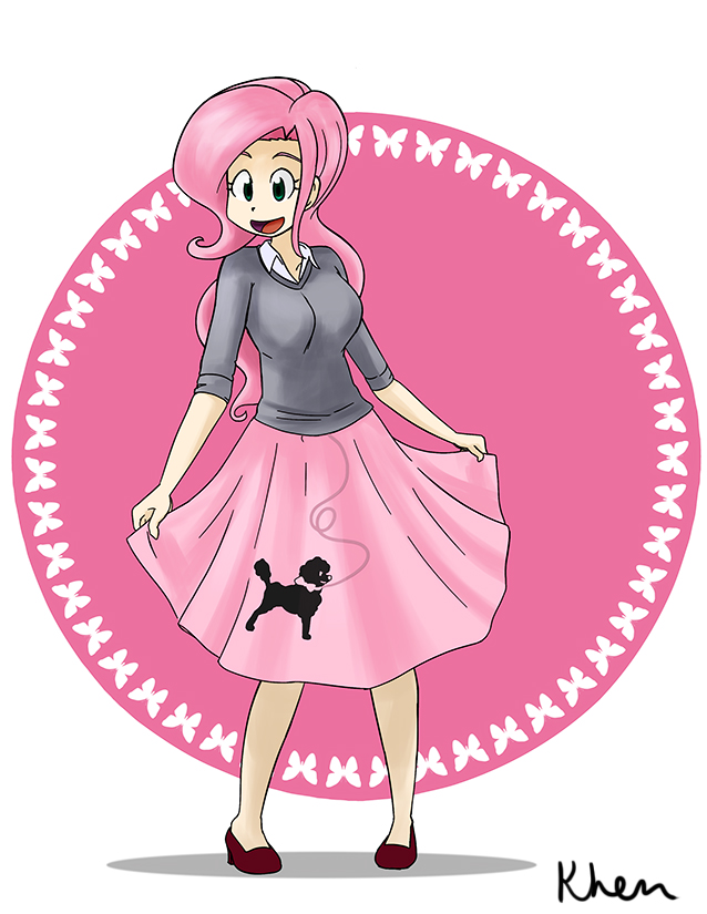 fluttershy in a poodle skirt my little pony friendship is magic rh knowyourmeme com poodle skirt dog clipart poodle skirt clipart images