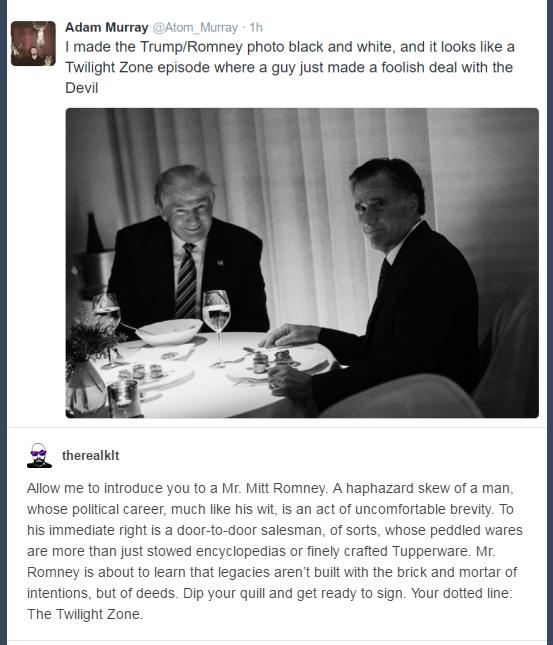 76e the trump zone trump romney dinner photo know your meme