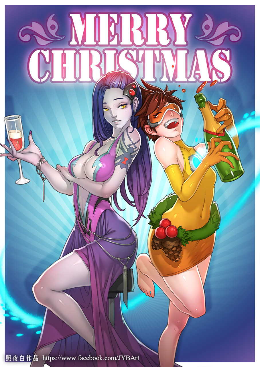 Merry Christmas (Widowmaker and Tracer) by Chong-Wen Wang ...