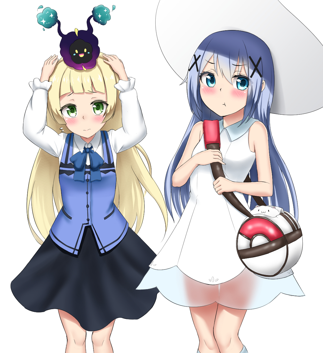 Lillie And Chino Switch Outfits Pokémon Sun And Moon Know Your - Hair colour pokemon x