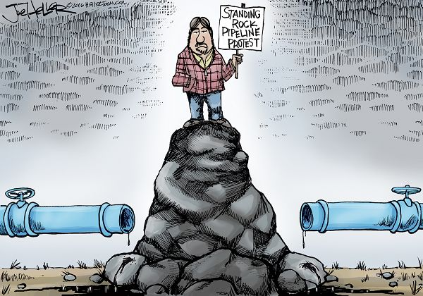 58a cartoon by joe heller dakota access pipeline protests know
