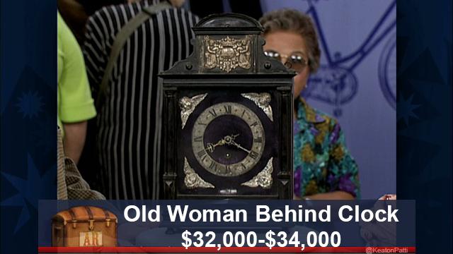 Old Woman Behind Clock: $32,000-$34,000 - Old Woman Behind Clock: $32,000-$34,000 Fake Antiques Roadshow