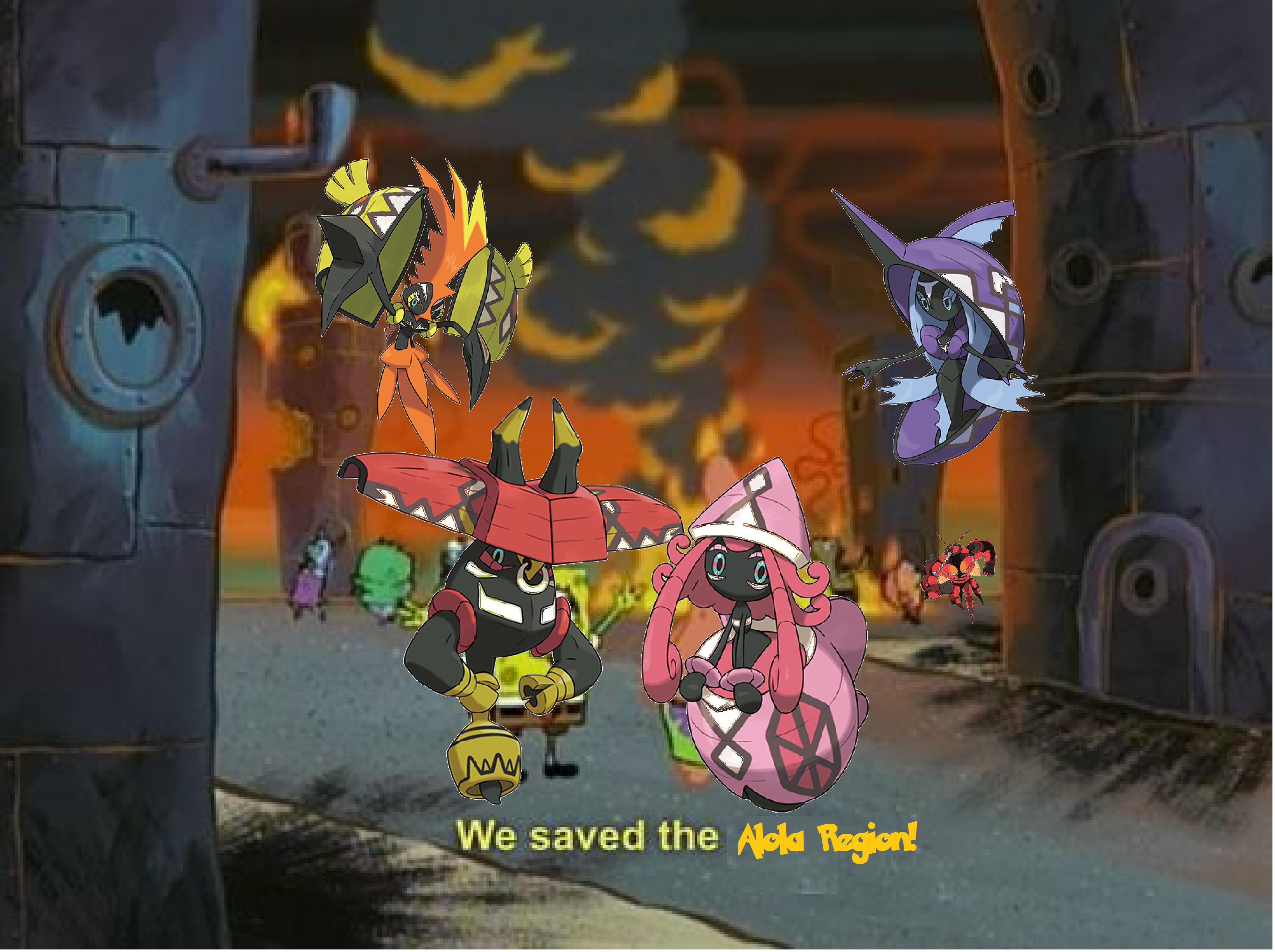 0c6 we saved alola we did it, patrick! we saved the city! know