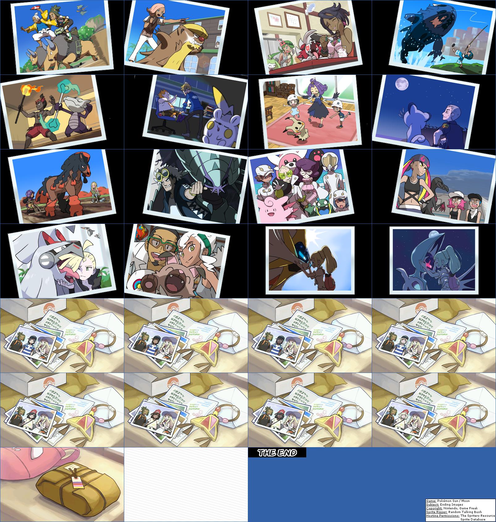 pokémon sun / moon ending images | pokémon sun and moon | know