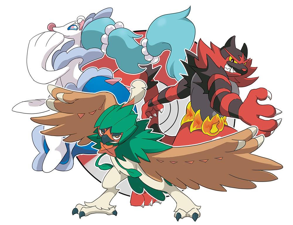 Resultado de imagem para pokemon alola starters