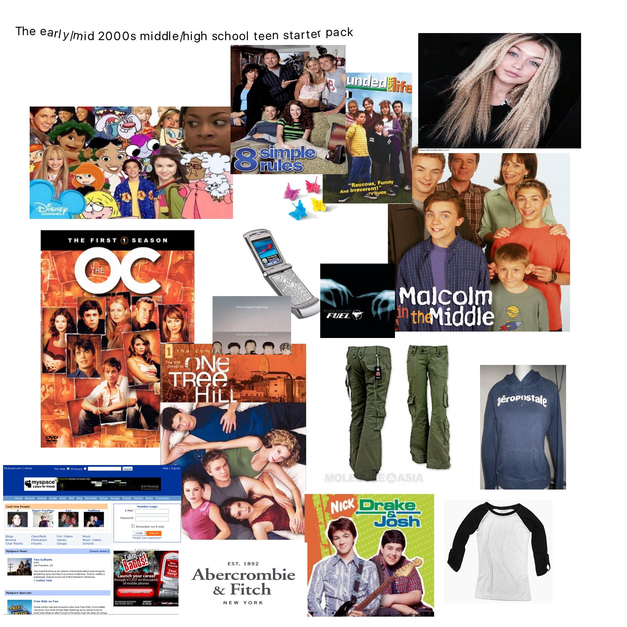 ac8 the early mid 2000's teen middle high school girl starter packs