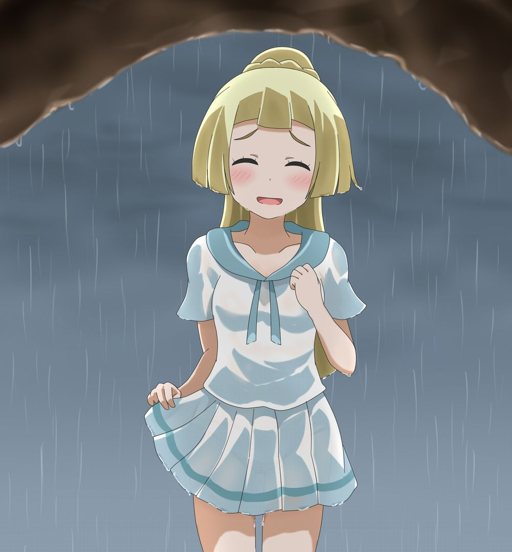 My Clothes Get Wet Pokémon Sun And Moon Know Your Meme - Hair colour pokemon x