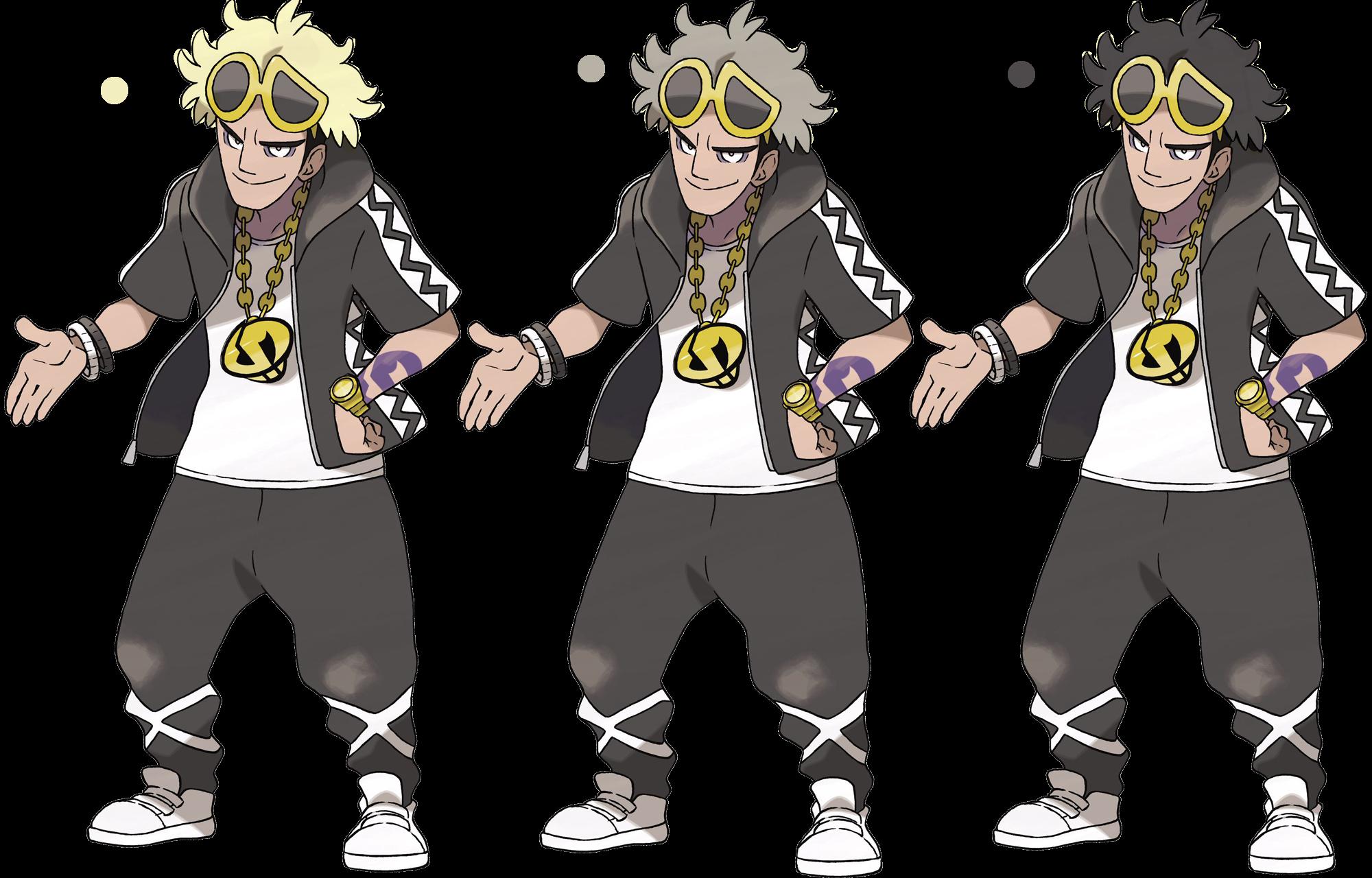 Guzmas Alternate Hair Colors Pokémon Sun And Moon Know Your Meme - Hair colour pokemon x