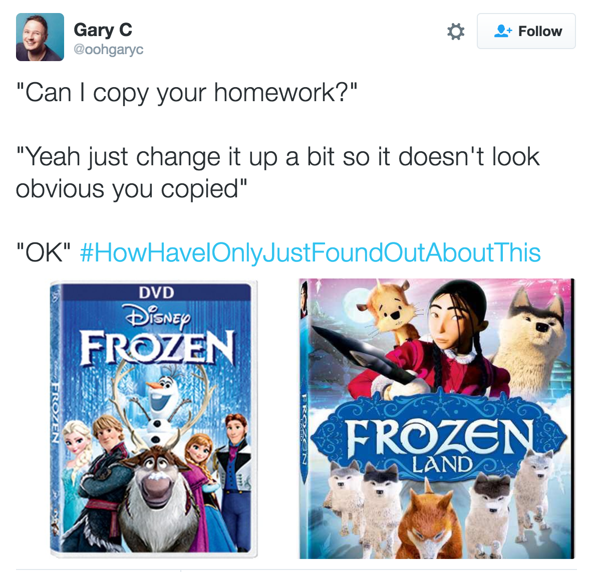 Copying homework story