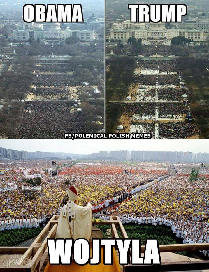 13d crowd sizes inauguration of donald trump know your meme