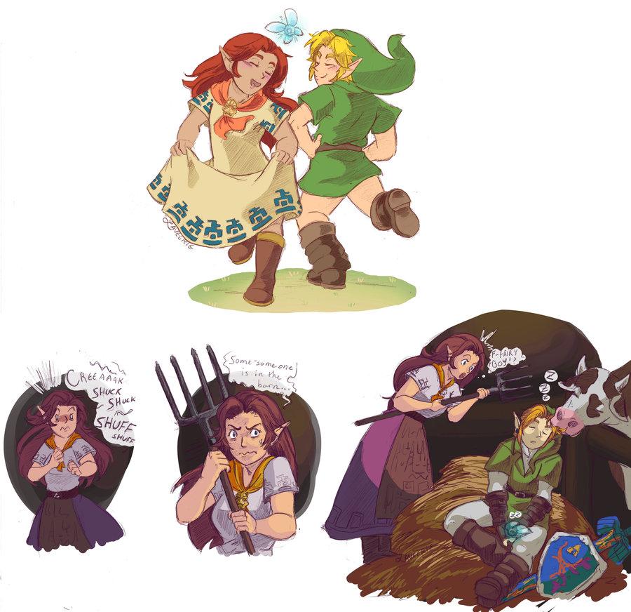 ni f fair ome someone ree aaak shuck uck - Link Et Zelda