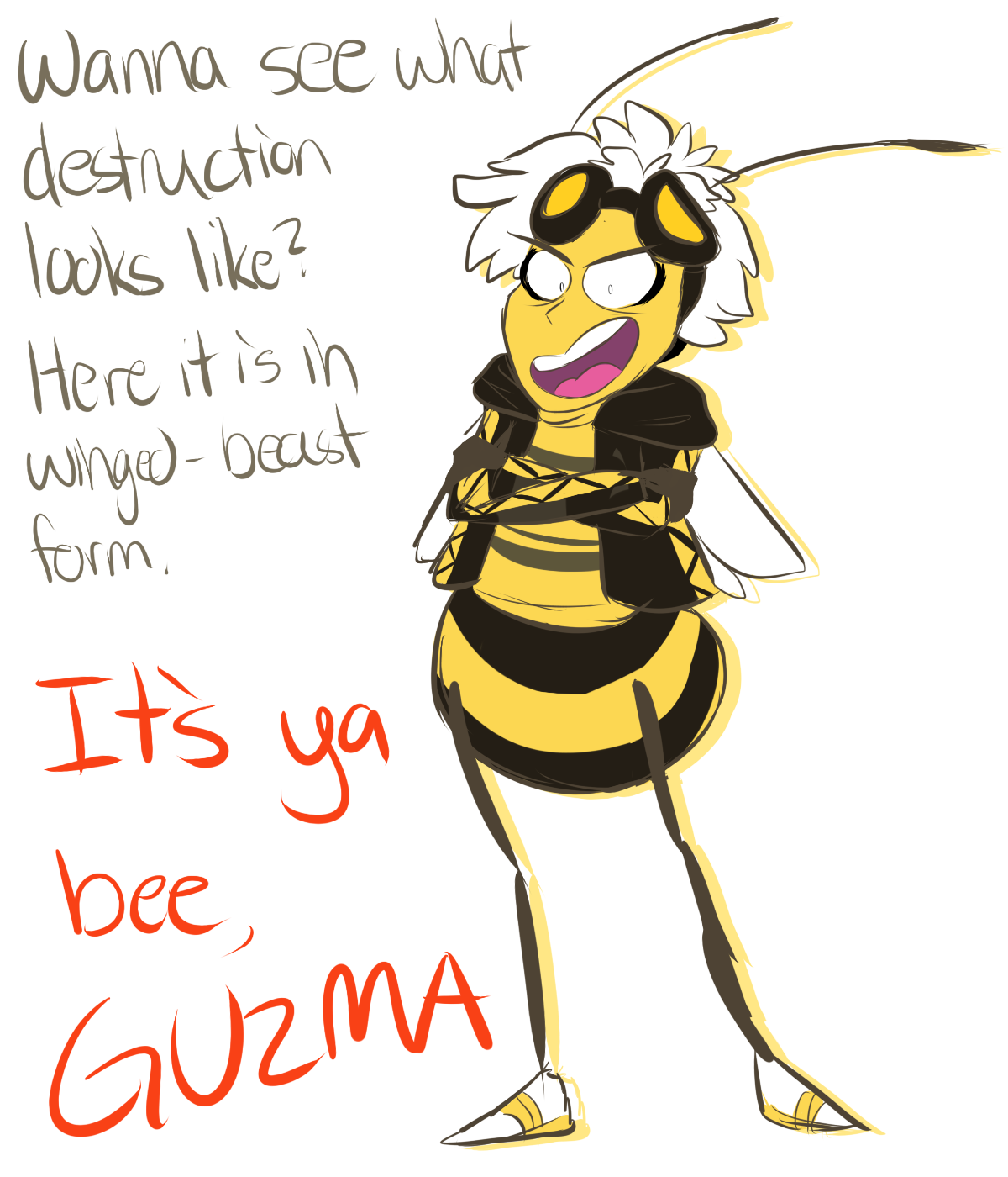 74b pokemon sun and moon but humans are bees guzma know your meme