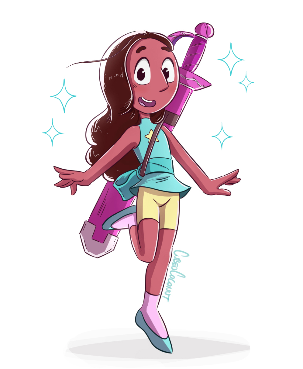 steven universe and connie meet the press