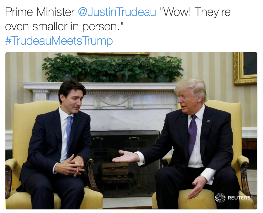 141 justin trudeau's handshake with donald trump know your meme