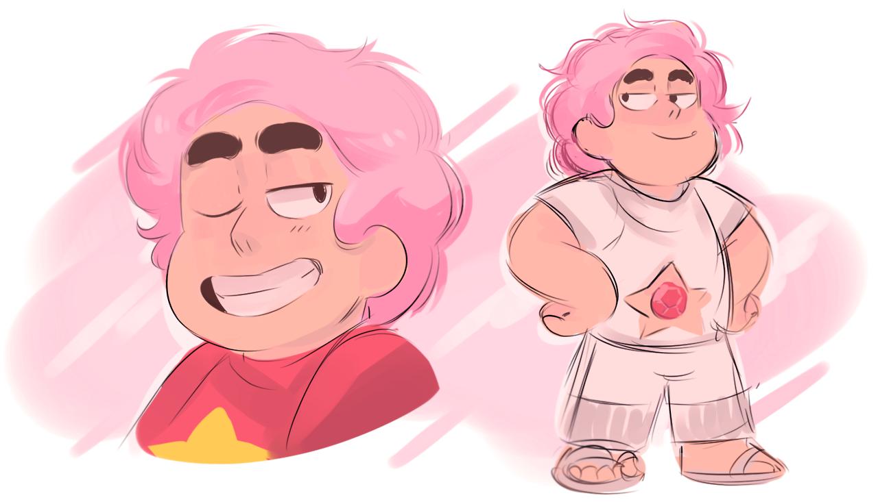 Rose Quartz Steven Universe Hair Template: Damn It, I Love Pink Haired Steven