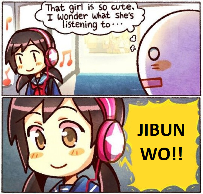 7d6 jibun wo that girl is so cute, i wonder what she's listening to