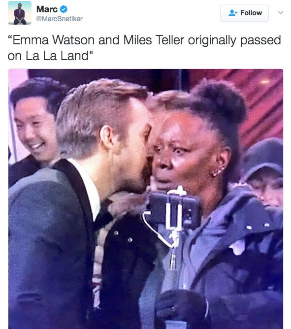 a29 emma watson passed on la la land ryan gosling whispering know