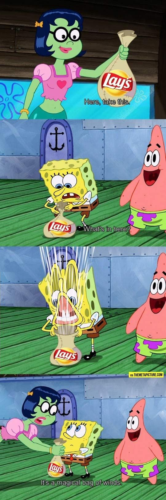 lays chips spongebob squarepants know your meme
