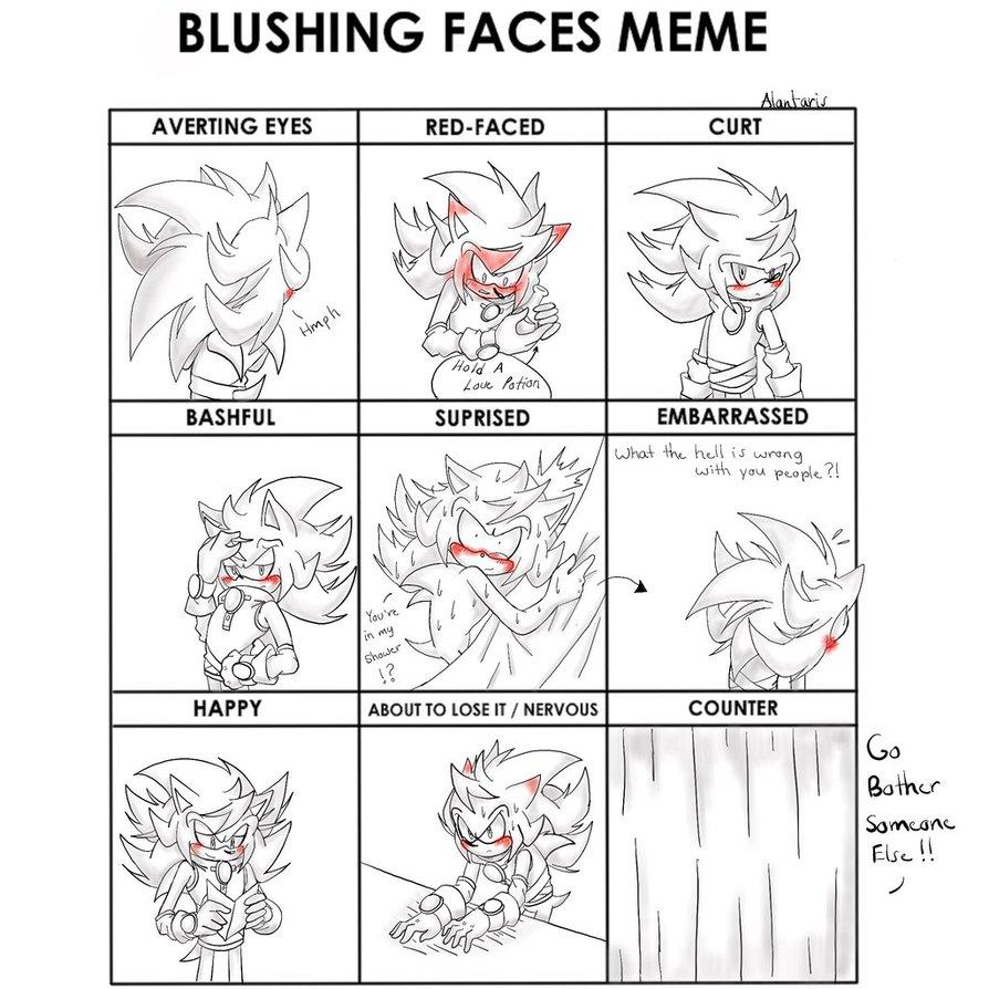 2b0 stratis the hedgehog blushing meme deviantart drawing memes,Memes Drawing