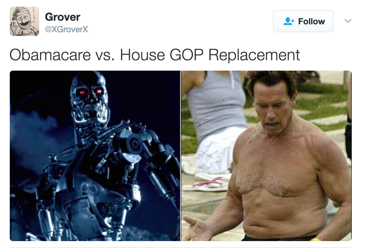 ae7 ahnold and temrinator obamacare vs trumpcare know your meme