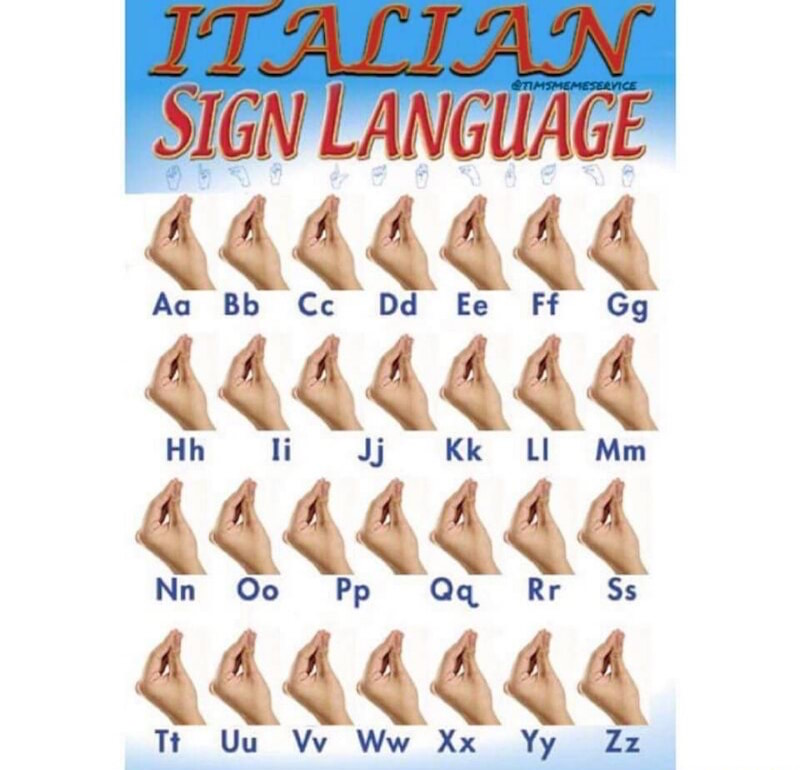 c43 italian sign language how italians do things know your meme