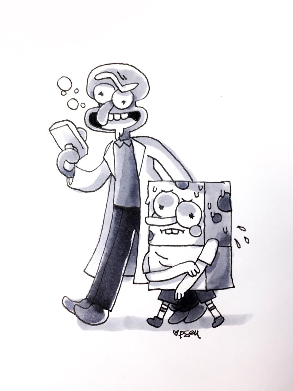 squidward and spongebob spongebob squarepants know your meme