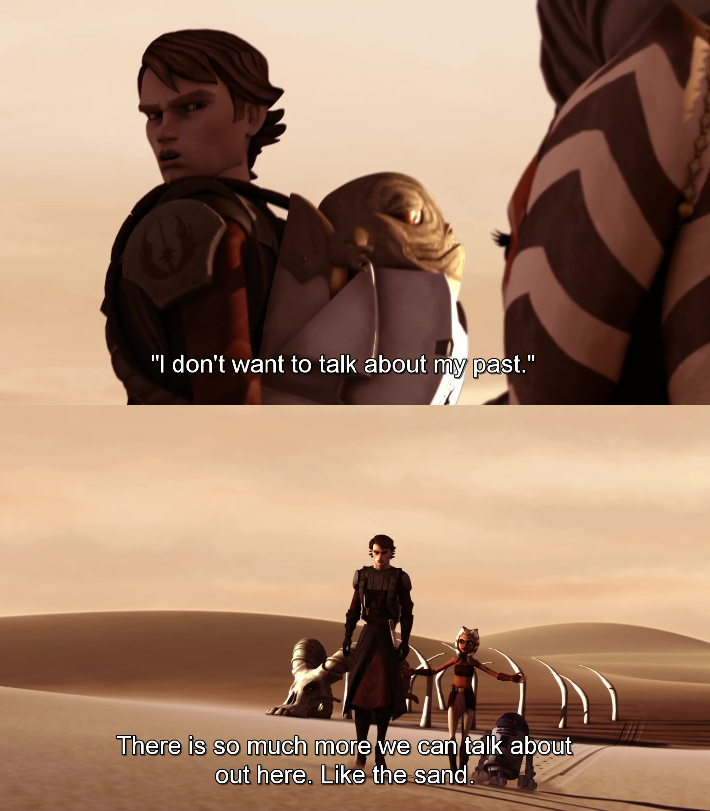 38b ahsoka no! i don't like sand know your meme