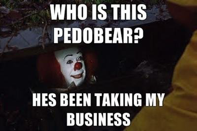 73b who is this pedobear pennywise in the sewer know your meme