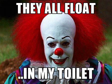 e1d they all float pennywise the clown know your meme