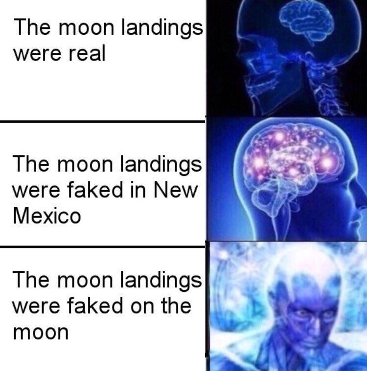 15c_large moon landings expanding brain know your meme,Moon Landing Meme