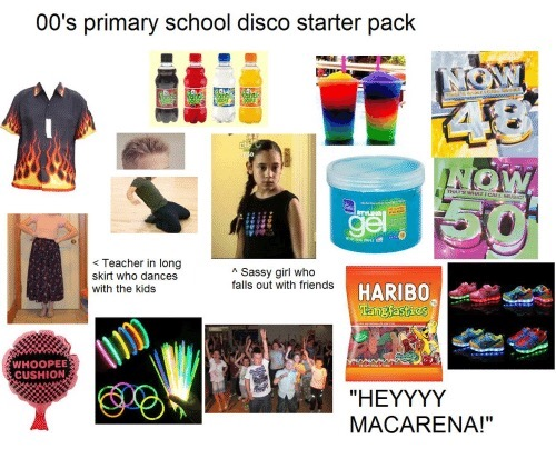 8bd early 2000s school disco starter pack starter packs know your meme