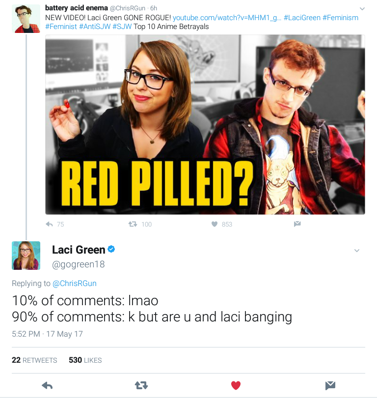 d9c k but are u and laci banging laci green know your meme,Laci Green Meme