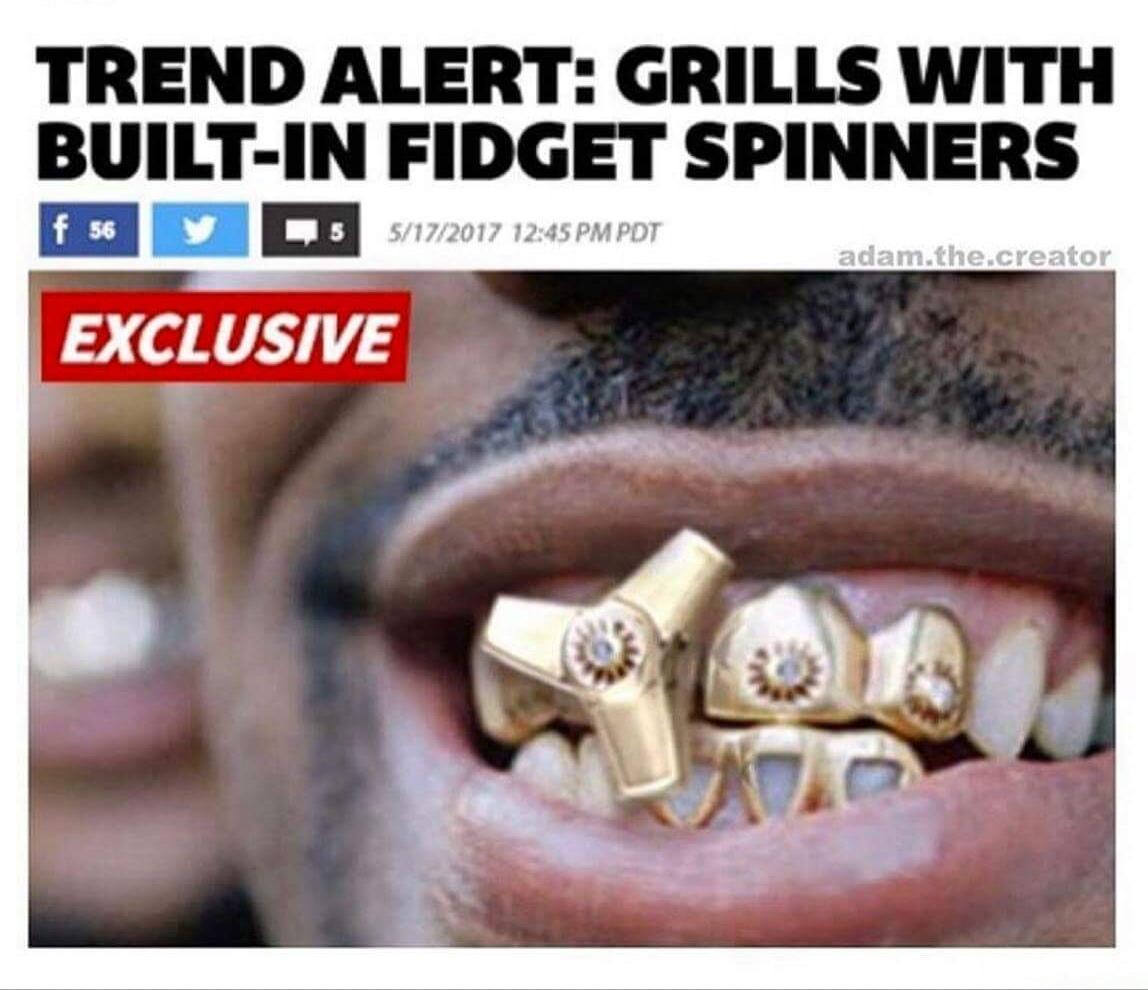 Grills  Trend alert: Grills with built in fidget spinners | Fidget ...